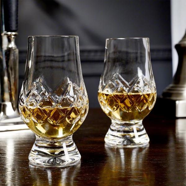 Kristallen Whiskey Glazen.Glencairn Cut