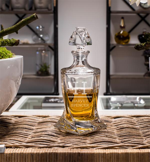 Graveren Van Whiskeyglas Of Karaf Whiskey Glazen Shop